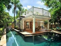 I love this house and pool!  #dreamhouse for sure! Key West Florida Vacation Rentals - Poinciana House, Historic Hideaways.
