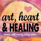 Art, Heart & Healing course by Willowing Art; FREE Class Offer to all of you! It's an in depth mixed media art course which focuses on healing through art