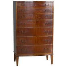 Georg Kofoed Dresser or Chest of Drawers in Mahogany Danish Midcentury Hallway Furniture, Chest Of Drawers, Danish, Mid-century Modern, Dresser, Mid Century, Storage, Home Decor, Style
