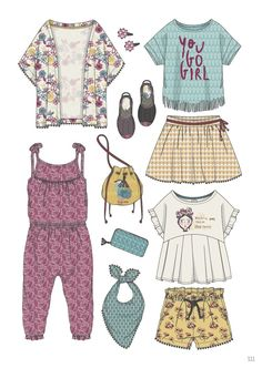 Minicool Kids (Italy) is a graphic trends booklet dedicated to clothing … - Kids Fashion Fashion Kids, Fashion Design, Fashion Trends, Silhouette Mode, Fashion Sketches, Baby Wearing, Kids Wear, Kids Outfits, Clothes