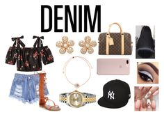 """""""Untitled #410"""" by jenadieu ❤ liked on Polyvore featuring Colette Jewelry, Marie Mas, Rolex, Louis Vuitton, New Era and Anastasia Beverly Hills"""