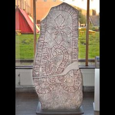 "Frösö runestone ""Östman Gudfast's son made the bridge, and he Christianized Jämtland"""