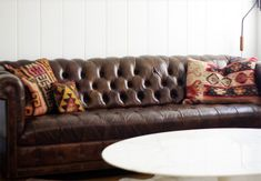 Trying to find pillow inspiration for the new Chesterfield