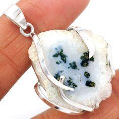 Natural Solar Quartz Eye 925 Sterling Silver Pendant Jewelry SQEP294 - JJDesignerJewelry