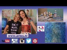 Cuadro en papel aluminio con decoupage de stencils - Conny Mellien Becker Decoupage, Stencils, Printing On Fabric, Diy And Crafts, Youtube, Mixed Media, Texture, Prints, Tutorials