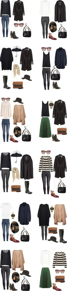Edinburgh Packing Light Outfit Options
