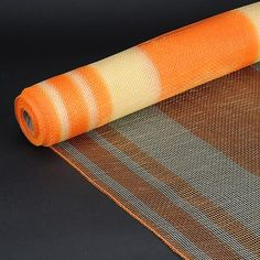 orange with ivory poly deco mesh