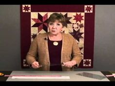 """Deb has developed a method to strip piece the Lemoyne Star, then trim it down for a quick, perfect block.  And...no Y-seams!  Beautiful results every time in 10 sizes - 3"""" to 12"""". Part one."""