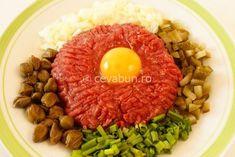 Cum se face biftecul tartar. Origine si istorie beefsteak tartar. Ce e steakul tartar. Reteta steak à l'Americaine. Biftec cu carne cruda.