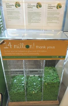 Located near the store entrance, I saw a collection unit with three separate sections filled with green Waitrose tokens at varying levels.  At the top of each section were brief stories of three local charities - I selected the one on the far right.  I selected the Tynnedale Ladies Football Club, which was hands down ahead of the other two causes.  Every month, £1,000 is donated by each of the 300 Waitrose branches and shared between three good causes in their local communities.