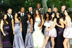 khloe kardashian wedding party - love the different purples