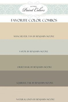 Benjamin moore paint colors: manchester tan vapor dried basil squirrel tail natural linen by stacey.darden.58