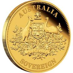 The 2011 Perth Mint proof Australian gold sovereign is one of the most famous gold coins ever made. The coin is struck by The Perth Mint from pure gold in proof quality. ( It has the Australian coat of arms on it ) Bullion Coins, Gold Bullion, Gold And Silver Coins, Silver Bars, Perth, Australian Coat Of Arms, Gold Sovereign, Silver Investing, Coin Auctions