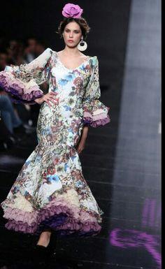 Estampado floral en la moda flamenca