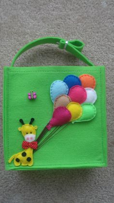 green felt messenger bag for kids