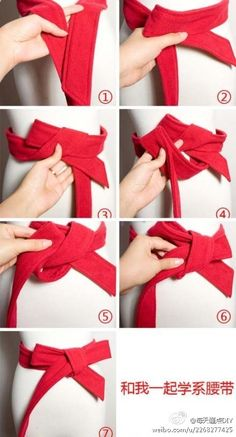 How To Wear Belts How to tie a bow on a coat. - Discover how to make the belt the ideal complement to enhance your figure.