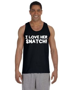 bb3a1ee08780b Items similar to Work Out Tank Top - WOD - I Love Her Snatch - Fitness Tank  - Workout Tank - Clean and Jerk - Olympic Lifting - Gym Tank - Exercise  Tank Top ...