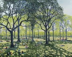 Under The Trees, 2016, oil on linen, 120 x 150 cm47 1/4 x 59 1/8 in
