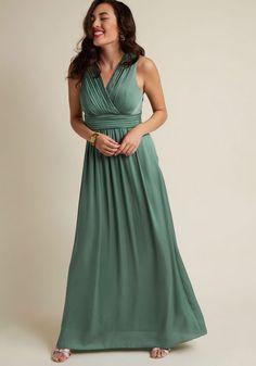 Sleeveless Bridesmaid Maxi Dress in Sage