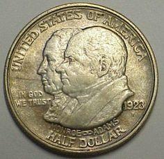 1923 S monroe doctrine silver half dollar