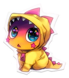 1000 Images About Chibi Dinosaurs On Pinterest
