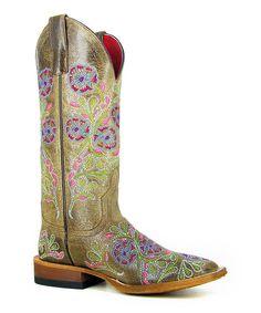 Look what I found on #zulily! Macie Bean Light Brown Jolene Cowboy Boot - Women by Macie Bean #zulilyfinds