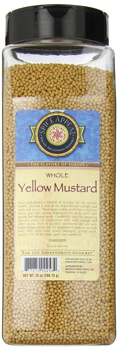 Spice Appeal Yellow Mustard Whole, 25 Ounce * You can find more details here : Fresh Groceries