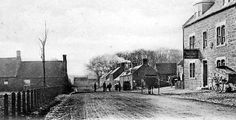Old photograph of Swinton village in the Borders of Scotland