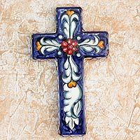 Floral Blessing from They help succeed worldwide. Cross Wall Art, Cross Wall Decor, Crosses Decor, Wall Crosses, Painted Wooden Crosses, Cross Drawing, Cross Crafts, Rock Decor, Pallet Art