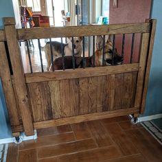 Rustic Wood Frame 5 x 7 with Mat 8 x 10 Picture Frame Diy Dog Gate, Barn Door Baby Gate, Diy Baby Gate, Baby Gates, Pet Gate, Dog Gates, Barn Doors, Wood Baby Gate, Pet Door