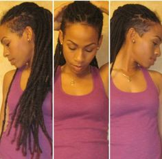 Awesome Red Dreads Shaved Side Im Unto The Shaved Side Today Do S And Hairstyles For Women Draintrainus