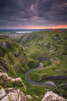 Cheddar Gorge Sunset, Somerset, England by Rich Wiltshire http://lp-mag.com/c5n9