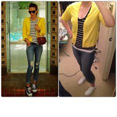 Yellow Cardi-Gap Outlet Striped T-Ross Jeans-T.J. Maxx Chucks-Finish Line