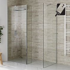 1000mmx800mm Premium EasyClean Wetroom Panel, Return & Side Panel 8mm thick glass - soak.com