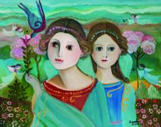 Santa Anjos com Beija-Flor 40 x 51 cm – OST Ass. CID e Dat. 2010