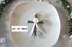 _*Traumhafte Tischdekoration in creme - weiß_*   Ideal für Ihre Hochzeit, Kommunion, Konfirmation.  Aber auch für andere festliche Anlässe geeignet!   Sehr schöne Tischdekoration, die den...