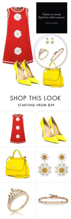 """Untitled #1402"" by swc0509 ❤ liked on Polyvore featuring Dolce&Gabbana, Gianvito Rossi and Hoorsenbuhs"