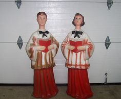 "Vintage Christmas Blow Molds ~ Beco U.S.A. Carolers 40"" Tall"