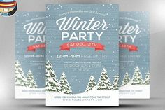Rustic Winter Flyer Template by FlyerHeroes on @creativemarket