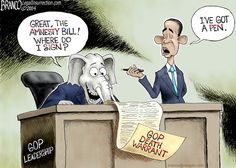 Signing it All Away - A.F.Branco Cartoon