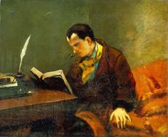 """""""A book is a garden, a party, a company by the way...""""  ―Charles Baudelaire. Charles Baudelaire by Gustave Courbet."""