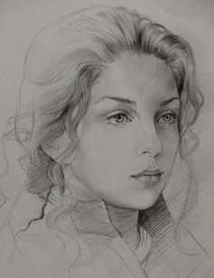 pencil sketch by Anuj pandit. - but to me it is Anne Shirley from Anne of Green Gables