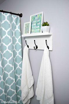 Beautiful Bathroom Hand Towels use a napkin ring or pretty bracelet to cinch hand towel | crafty