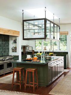 Cozinha em Madeira Verde