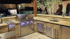 Outdoor kitchens are a great idea