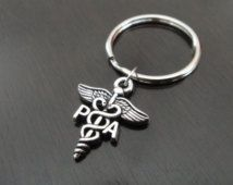 PA Physician Assistant Medical Caduceus Student Graduation Class Gift Ceremony Key Chain