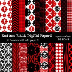 Cupcake Cutiees - Red and Black Papers (Powered by CubeCart)