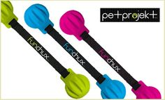 You've just found your pup's new favorite fetch and tug toy. The Funchux from Pet Projekt is two 100% natural rubber balls attached to ballistic nylon. It's great for fetching, tossing, bouncing, and tugging.