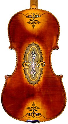 RARE 19th C INLAID VIOLIN, GORGEOUS, ANTIQUE SACHSEN, GERMAN (SAXONY ...