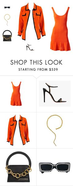 """""""Untitled #2243"""" by stylespot ❤ liked on Polyvore featuring Alaïa, Prada, Chanel, Paula Mendoza, Jacquemus and Gucci"""